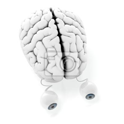 Canvas print Brain with eyes