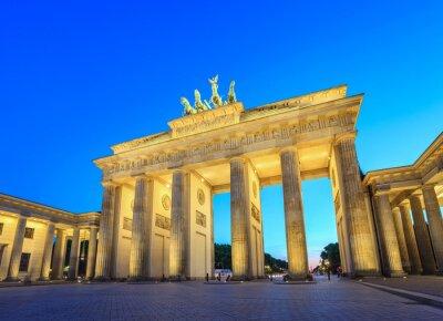 Canvas print Brandenburg Gate at night - Berlin - Germany