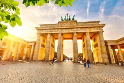 Canvas print Brandenburg gate at sunset