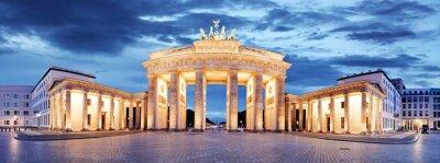 Canvas print Brandenburg Gate, Berlin, Germany - panorama