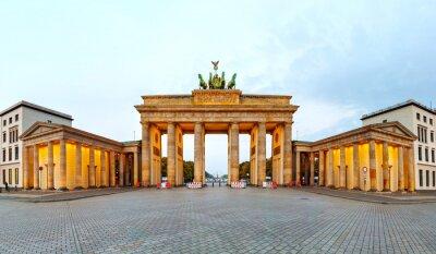 Canvas print Brandenburg gate panorama in Berlin, Germany