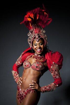 Canvas print Brazilian Samba Dancer