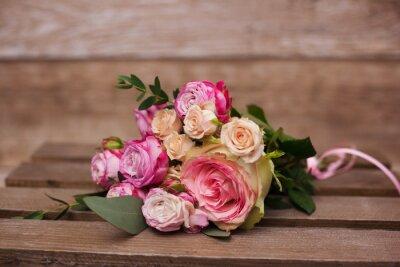 Canvas print bridal bouquet