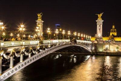 Canvas print Bridge of the Alexandre III in Paris