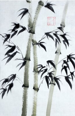 Canvas print Bright bamboo trees