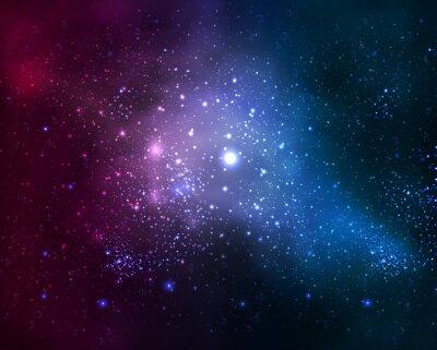Canvas print bright fuzzy galaxy