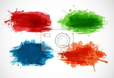 Bright splashes on white background. Vector illustration.
