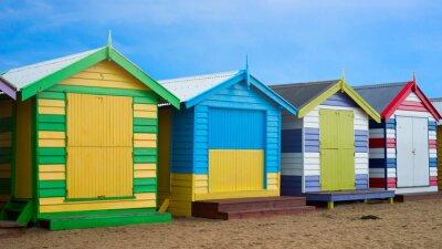 Canvas print Brighton beach boxes, Melbourne, Australia