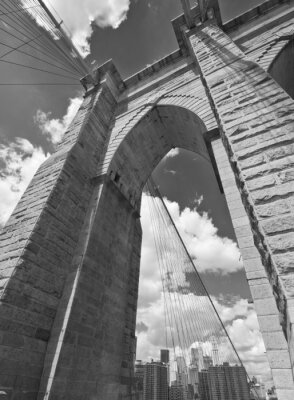 Canvas print Brooklyn Bridge Architecture
