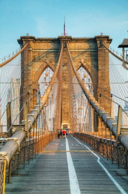 Canvas print Brooklyn bridge in New York City