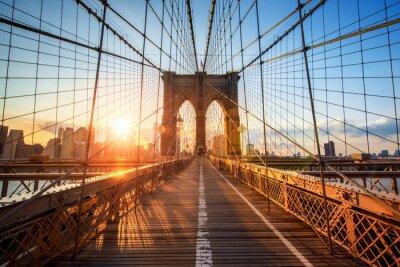 Canvas print Brooklyn Bridge in New York City USA