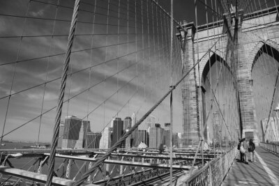 Canvas print Brooklyn Bridge, New York