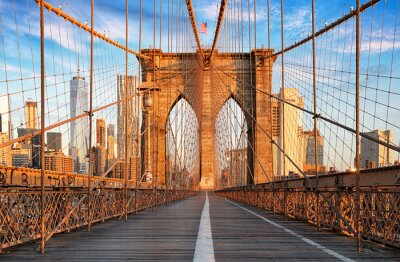 Canvas print Brooklyn Bridge, New York City, nobody