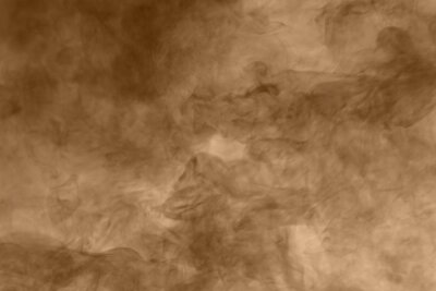 Canvas print Brown smoke background. Brown dust particle exhale in the air.