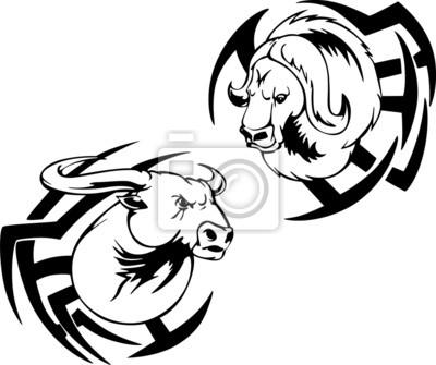 buffalo head tattoo