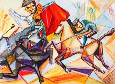 Canvas print Bullfight