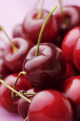 bunch of fresh,juicy, ripe cherries, shallow dof