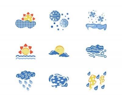 bundle of weather symbols set icons