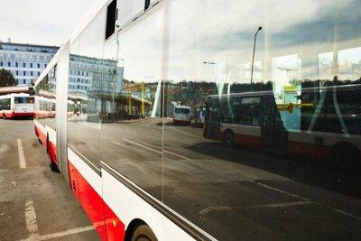 Canvas print Bus station