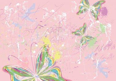 Canvas print Butterfly paints