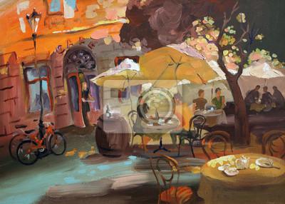 Canvas print cafe