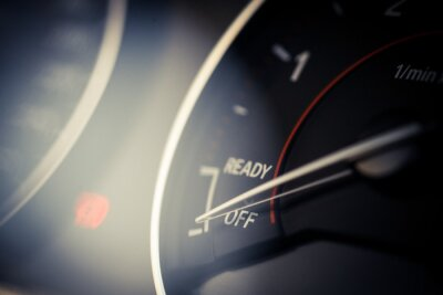 Canvas print Car's tachometer detail