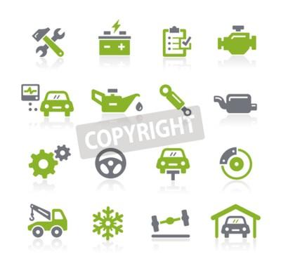 Canvas print Car Service Icons -- Natura Series