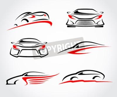 Canvas print Cars abstract set. Vector
