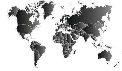 Canvas print carte du monde 06072015