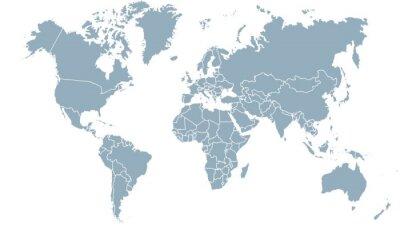 Canvas print carte du monde 24072015