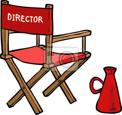 Cartoon director chair