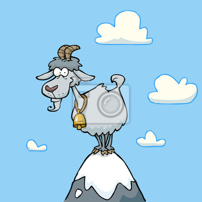 Cartoon mountain goat