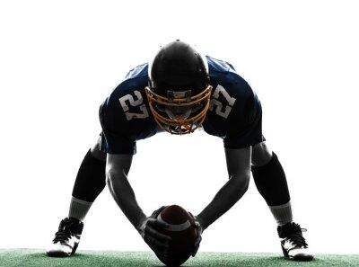 Canvas print center american football player man silhouette