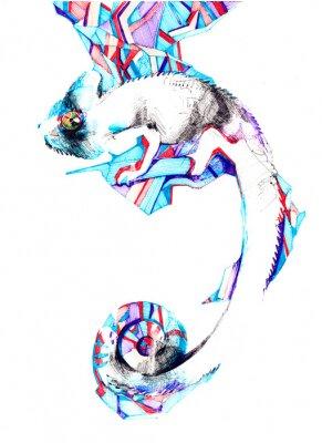 Canvas print chameleon