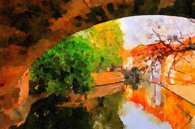 Canvas print Charles Bridge in Prague