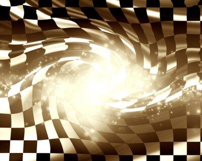 Canvas print Checkered racing flag