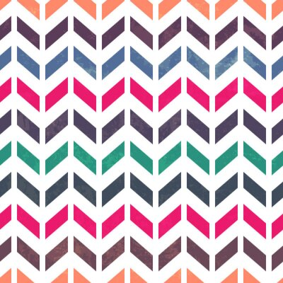 Canvas print Chevron pattern. Colorful, grunge and seamless. Grunge effects c