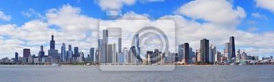 Chicago city urban skyline panorama