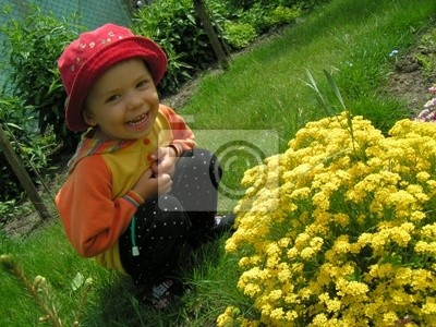 child in yellow