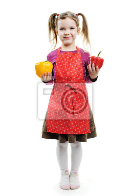 Child with paprika