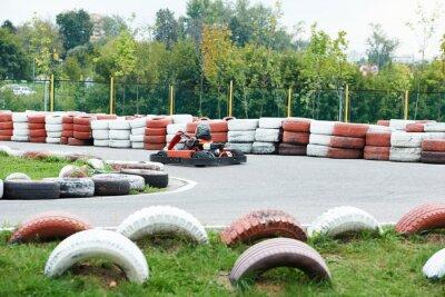 Canvas print Children karting
