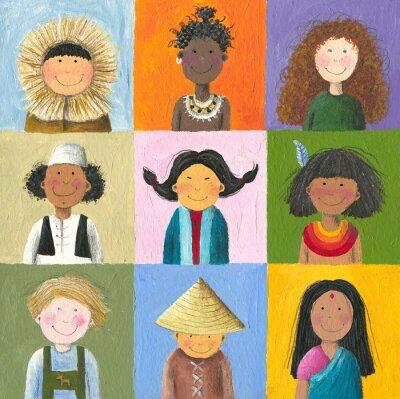 Canvas print children of the world