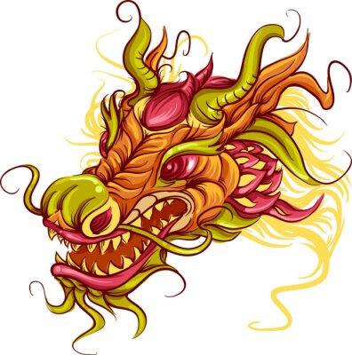 Canvas print Chinese Dragon Head
