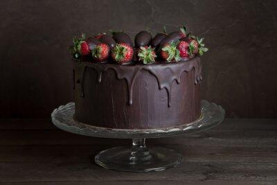 Canvas print chocolate cake
