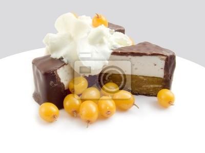 chocolate sweets the frozen berries of sea-bucktho