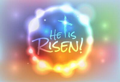 Canvas print Christian Easter Risen Illustration