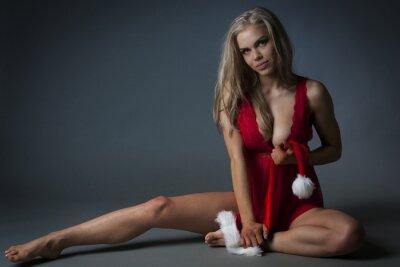 Canvas print Christmas Girl