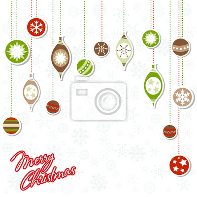Christmas greeting card with xmas toys