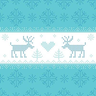 Canvas print Christmas Scandinavian Card - for invitation, wallpaper