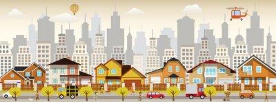 Canvas print city life